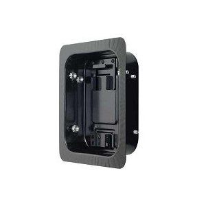 The Vision Mount LR1A recessed inwall box allows a flatpanel TV