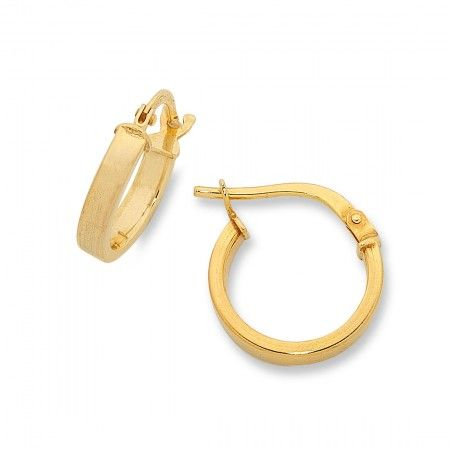 Bevilles 9ct Yellow Gold Silver Filled Square Hoop Earrings