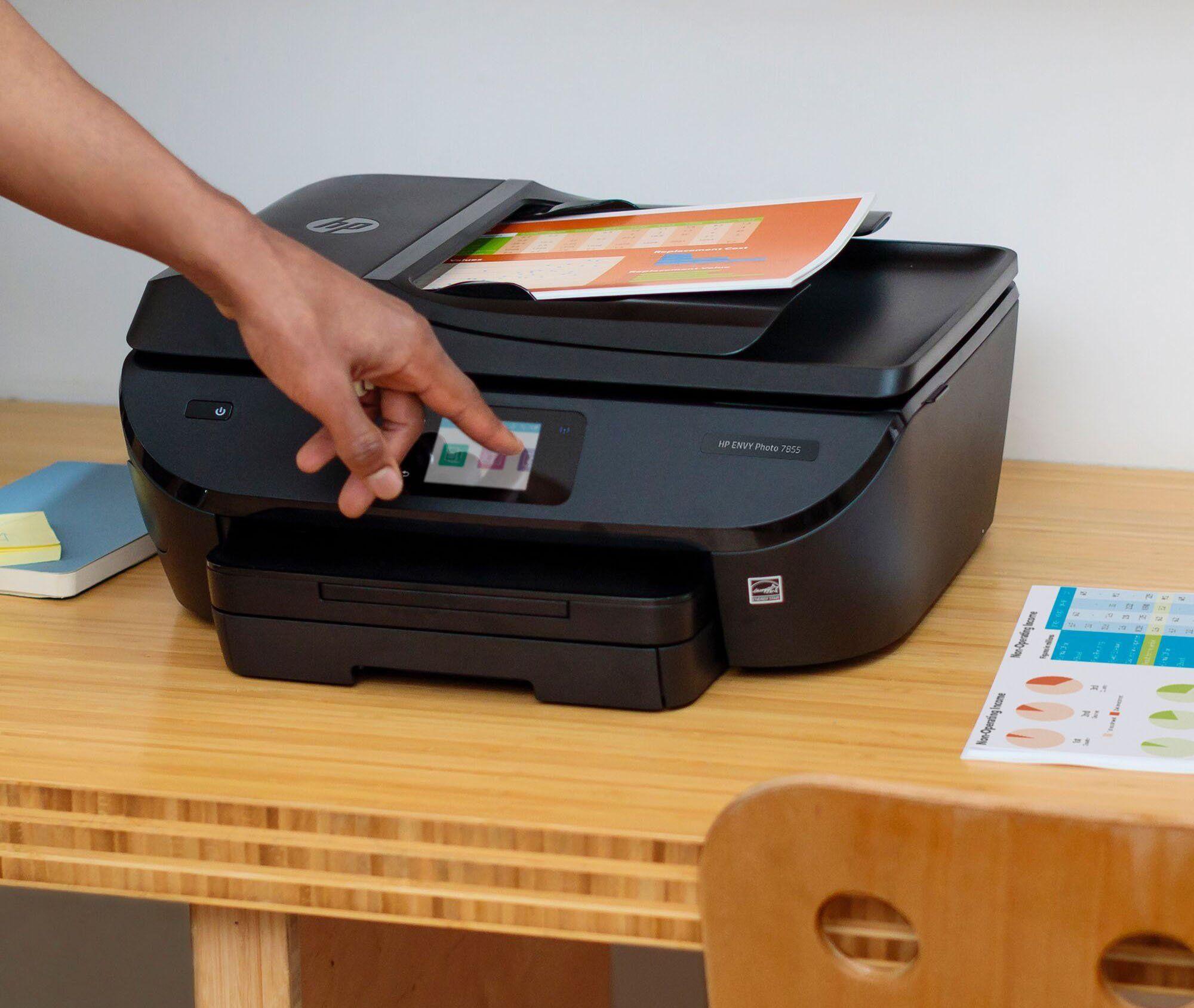 Hp envy photo 7855 allinone instant ink ready printer in