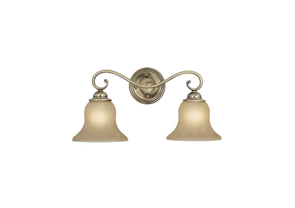Vaxcel Lighting VL35472 Monrovia 2 Light Bathroom Vanity Light - 12.63 Inches Wi Antique Brass Indoor Lighting Bathroom Fixtures Vanity Light