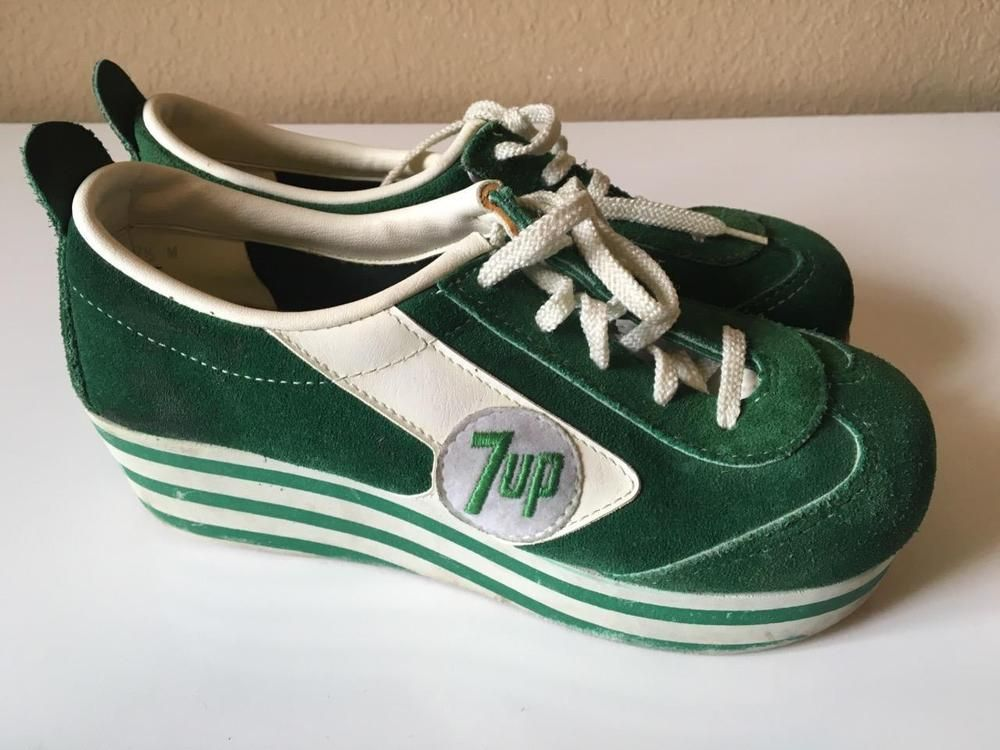 1970's Cougar 7UP platform sneakers shoes - I had rootbeer ...