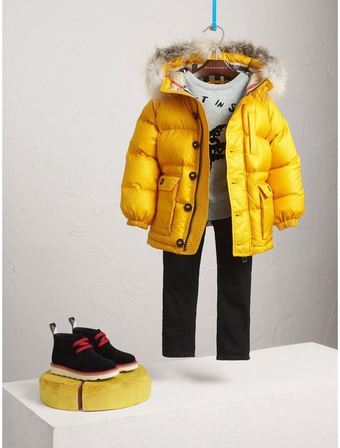 e460f923cf4c Burberry Detachable Fur Trim Hooded Down-filled Puffer Coat