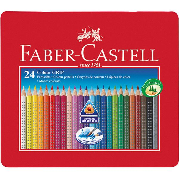 Faber Castell Colour Grip 2001 Pencils Tin Of 24 33 Liked