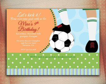 soccer birthday invitation u2013 etsy