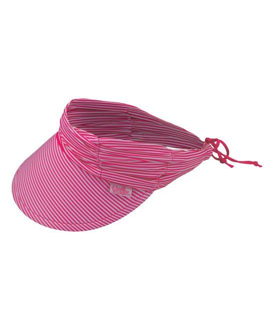 Hot Pink Stripe Swim Visor  9855b787b9df
