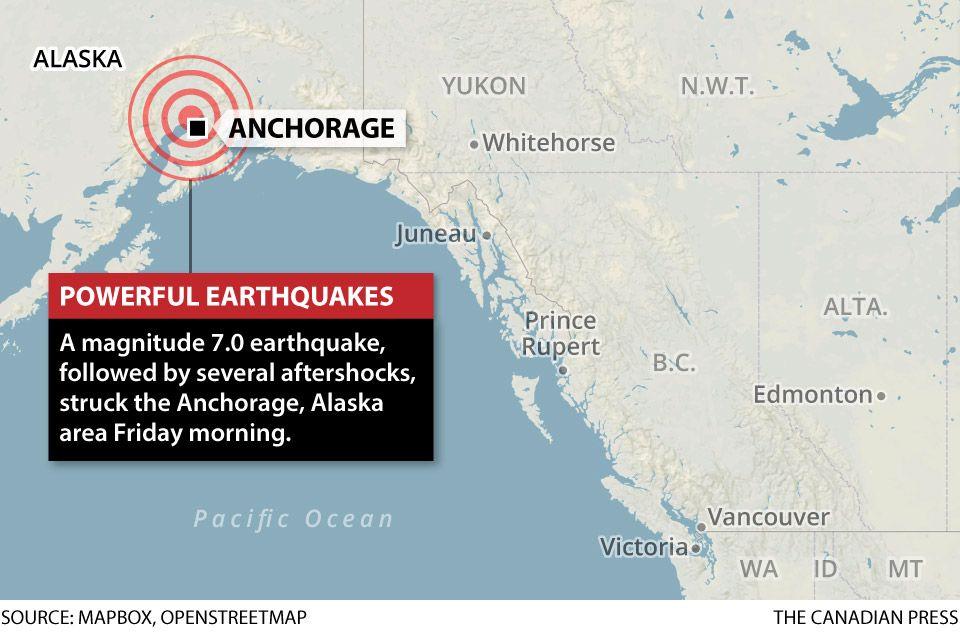 Alaska earthquake 'Major' damage left by 7.0 magnitude
