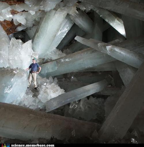 Giant gypsum crystals.