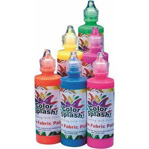 Color Splash Neon Fabric Paint 4 Oz Set Of 6 Walmart Com Color Splash Fabric Paint Paint Set
