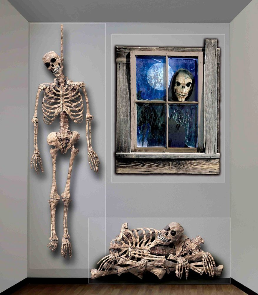 Halloween Haunted House Props Indoor Outdoor Ghastly Wall Decoration - halloween houses decorated