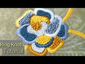 Embroidery stitches | different way to stitch French knot ...