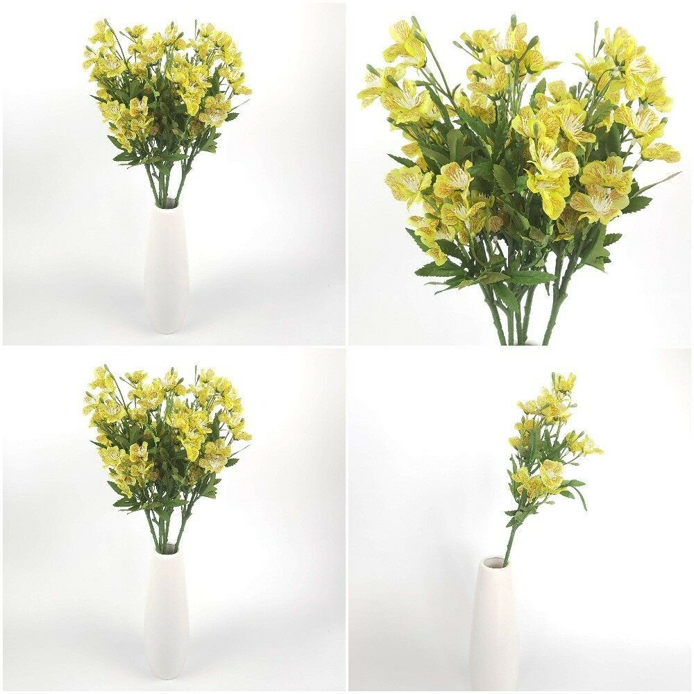 25 Long Stem Of Artificial Flowers Faux Plants For Tall Vase Fake