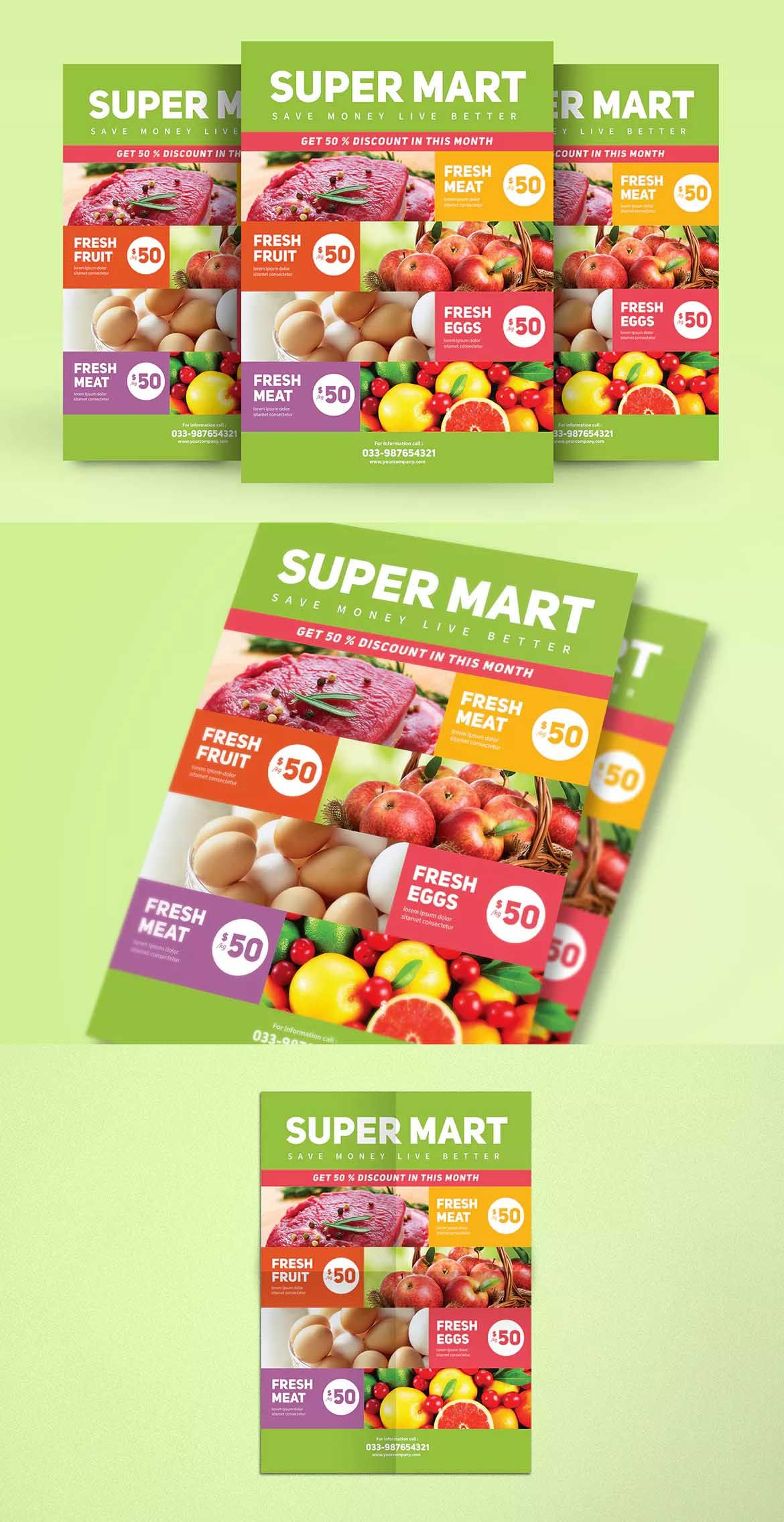 market product promotion flyer template ai psd a4 flyer design