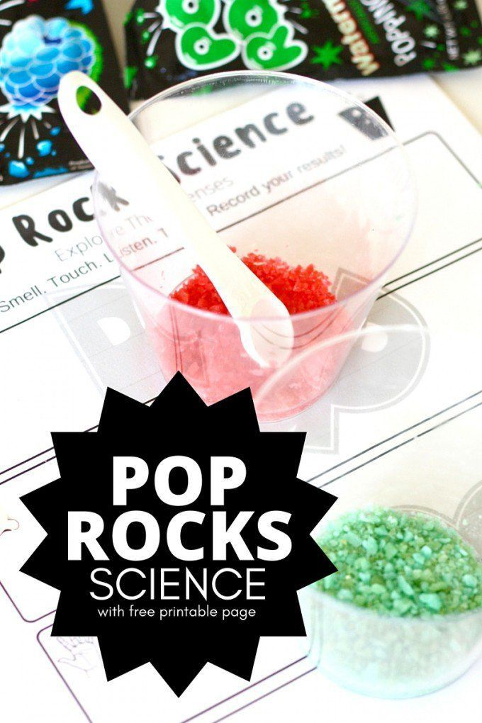 Pop Rocks Science Activity 5 Senses Learning for Kids