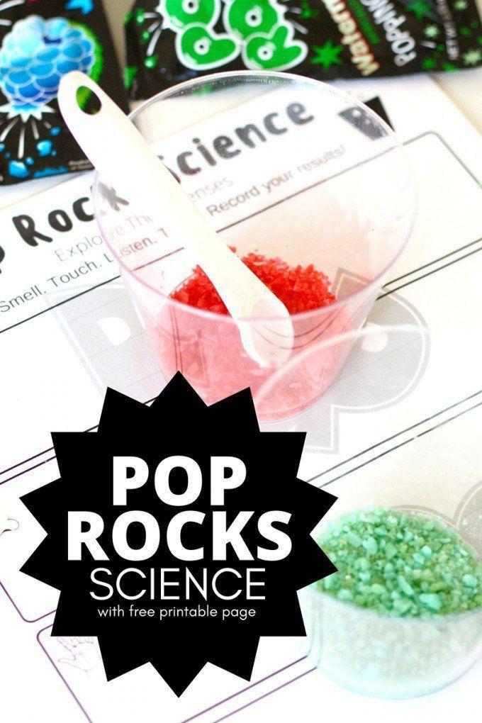 Pop Rocks Science Activity 5 Senses Learning for Kids
