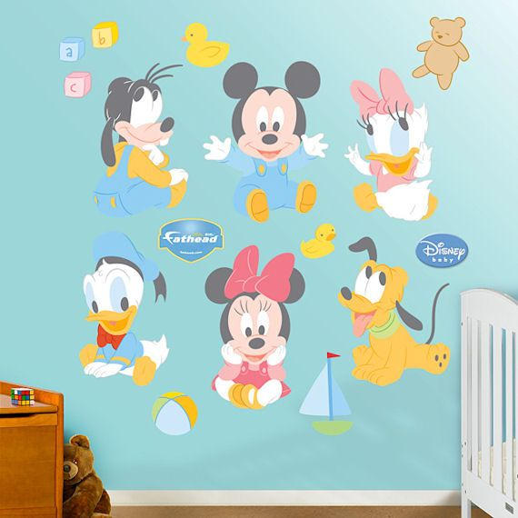 Disney Baby Mickey And Friends Wall Sticker Outlet