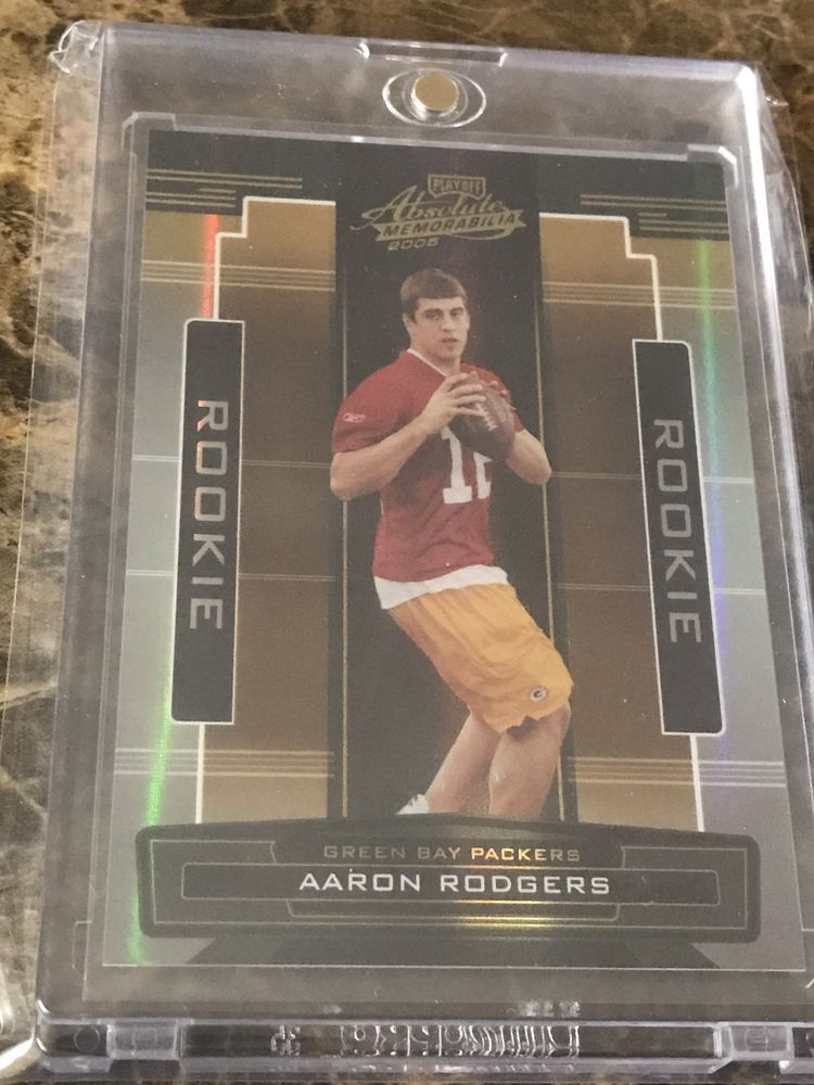 2005 playoff absolute memorabilia aaron rodgers rc