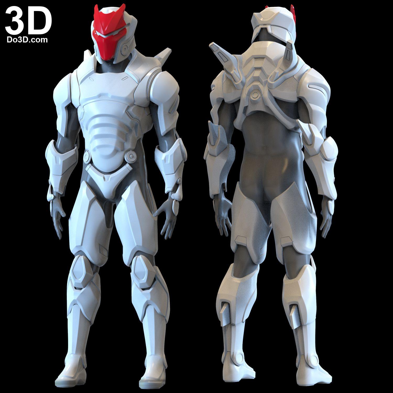 3D Printable Model: Omega Skin (Helmet and Armor Suit) from Fortnite