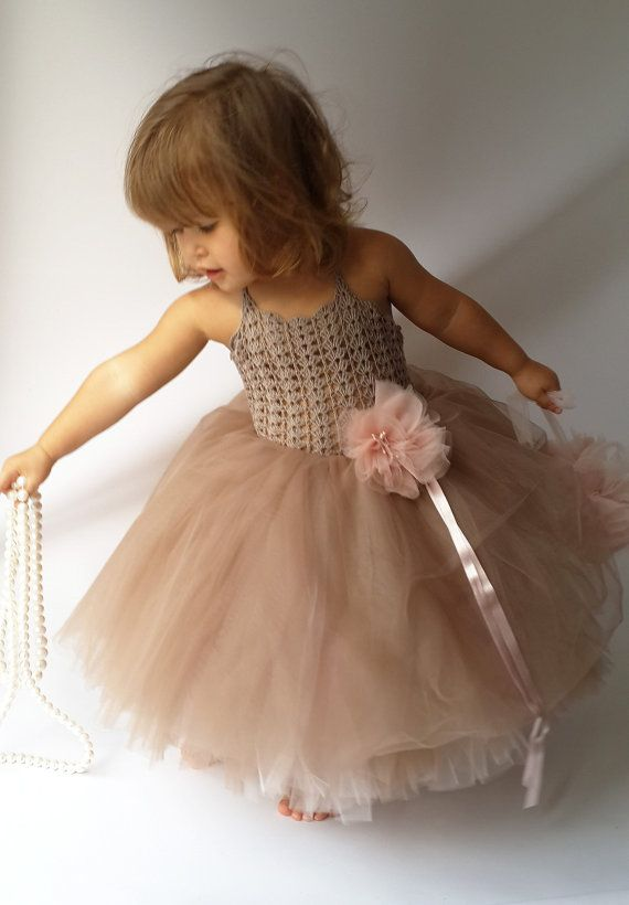 2cf0762cb Pink and Brown Puffy Baby Girl Tutu Dress. Baby by AylinkaShop ...