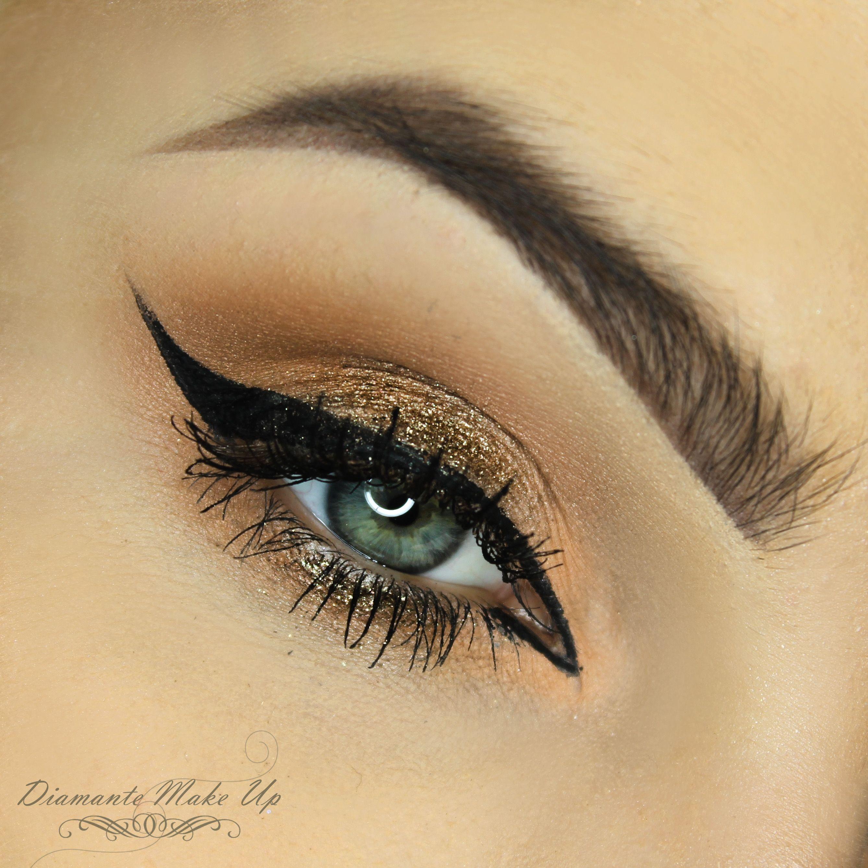 Beautiful Dark Glow look by Diamante Make Up using the Makeup Geek Creme Brûlée, Mocha, Peach Smoothie and Vanilla Bean eyeshadows with Utopia pigment.