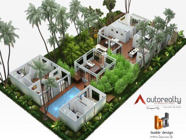 3d Floor Plan Jakarta Indonesia 3d House Plans House Plans Sims House Design