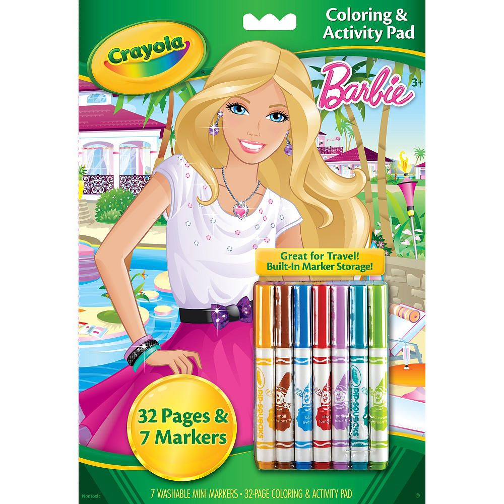 Crayola Coloring and Activity Pad with Markers Barbie