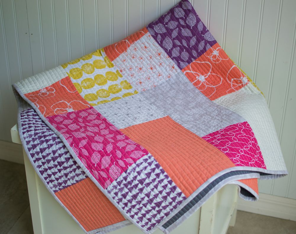 Modern Quilt Patterns For Beginners : New Free Fat Quarter Fizz Quilt Pattern from Fat Quarter Shop! Beginners quilt, Super easy and ...