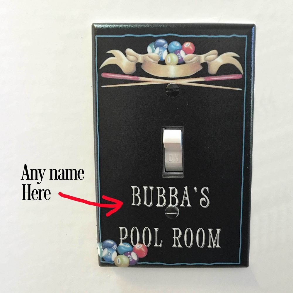 Custom Light Switch Plates Interesting Custom Light Switch Plate Wall Cover Room Deco Outlet Pool Decorating Design