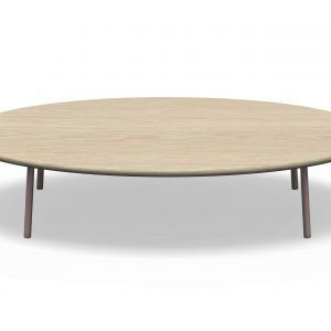 Low Circular Coffee Table