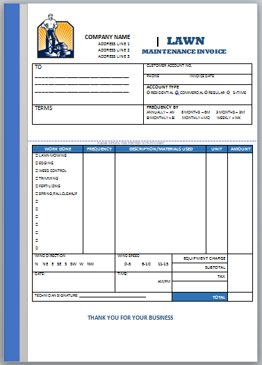 Landscaping Invoice Template 5 Landscaping Invoice Templates