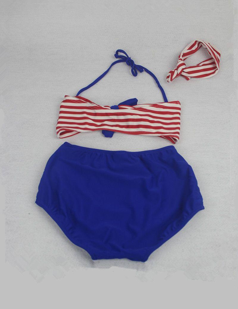 Aliexpress.com  Comprar 2 9Y Lindo niñas traje de baño del arco iris cadena b9074bb63a8