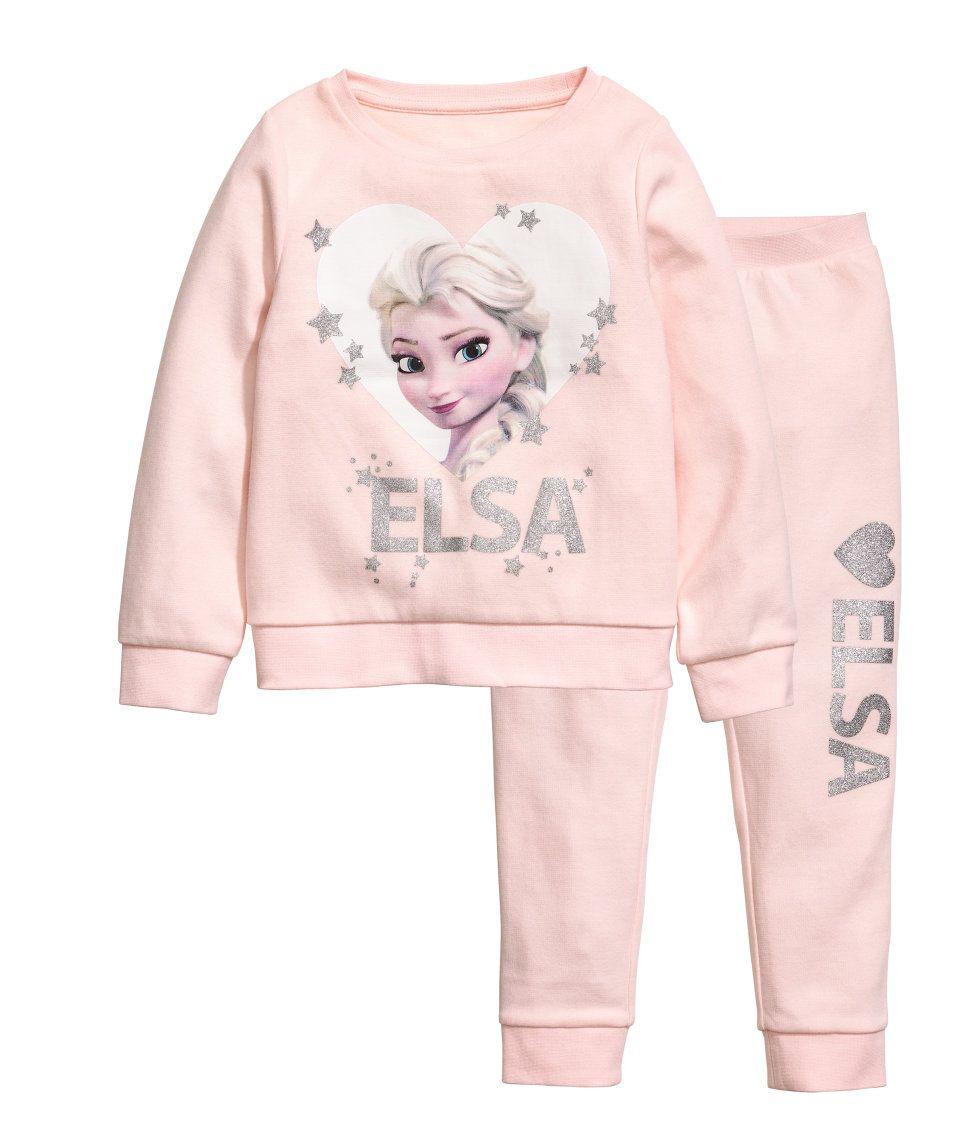 textura clara 2019 profesional precio bajo Pijama   Rosa claro/Frozen   Niños   H&M MX   Niños   Ropa ...