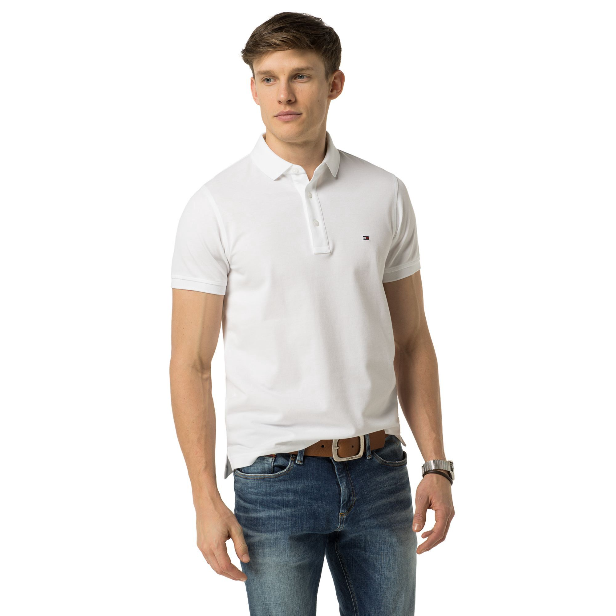 7d11577db TOMMY HILFIGER SLIM FIT LUXURY PIQUE POLO - BRIGHT WHITE. #tommyhilfiger # cloth #