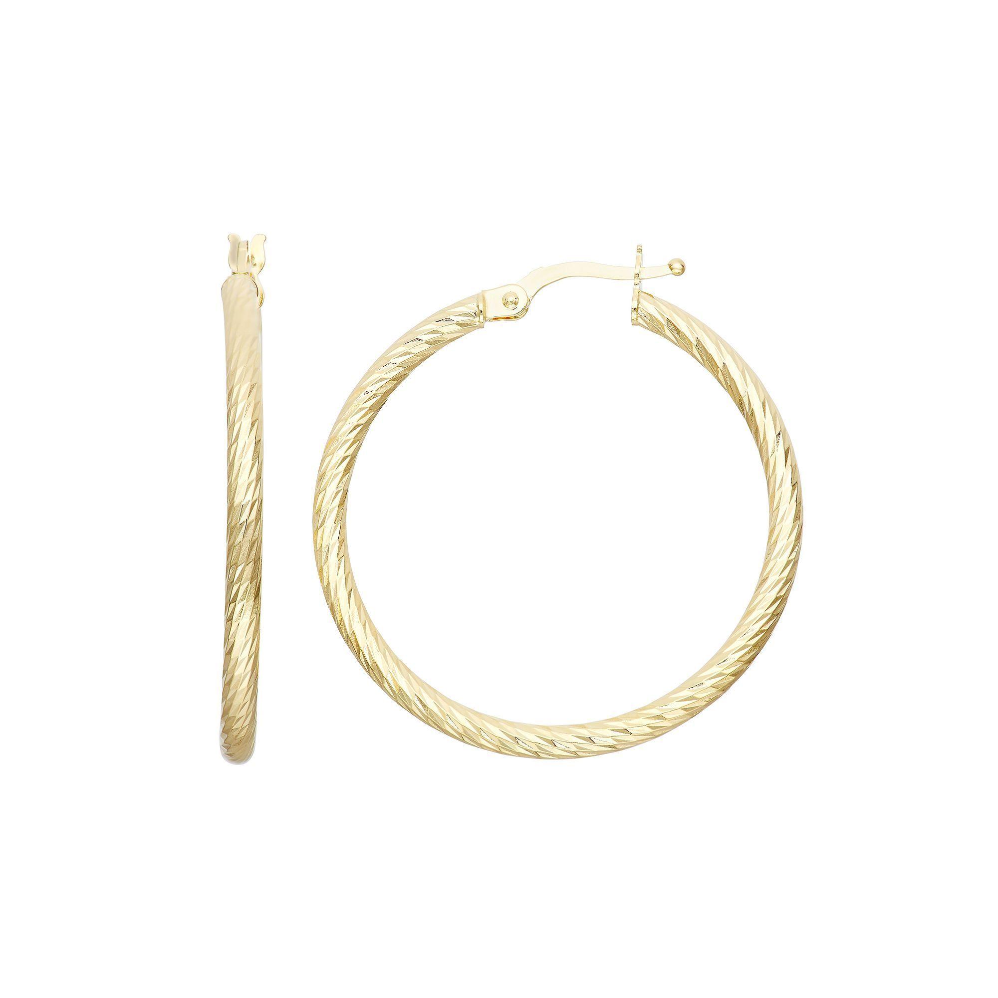 Kohl S 14k Gold Textured Hoop Earrings Products