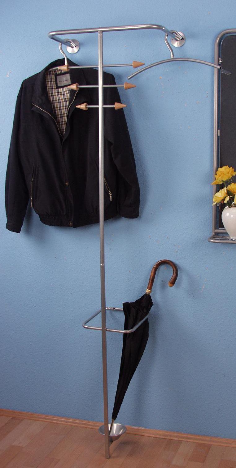 Metall Wandgarderobe Schirmstander Flur Garderobe Kleiderstander Kleiderstange Clothes Rail Clothing Rack Hall Coat Rack