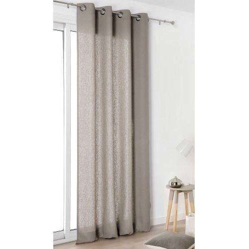 rideau authentique en 100 lin gris beige 135 x 260 cm