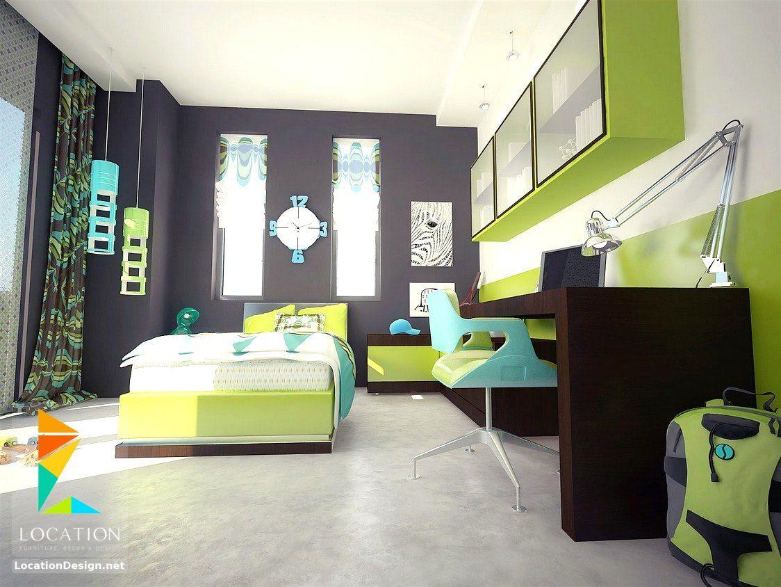 غرف نوم اولاد شباب أحدث موديلات غرف شبابي مودرن لوكشين ديزين نت Boys Bedroom Decor Boys Bedroom Colors Lime Green Bedrooms