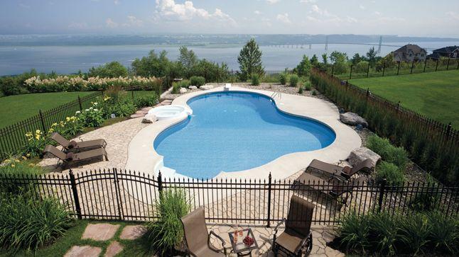 Point de vue autour de la piscine Pinterest Inspiration - amenagement bord de piscine