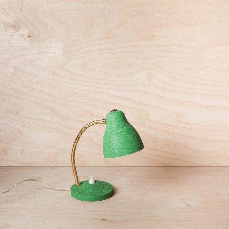 Petite Lampe De Bureau Vintage Annees 50 Verte Rienacirer Vintage
