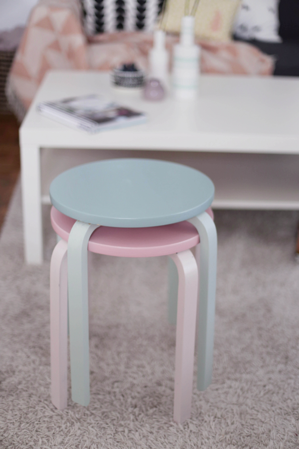 Painted ikea Birch stools   DIY   Pinterest   Abedules, Taburetes y Ikea
