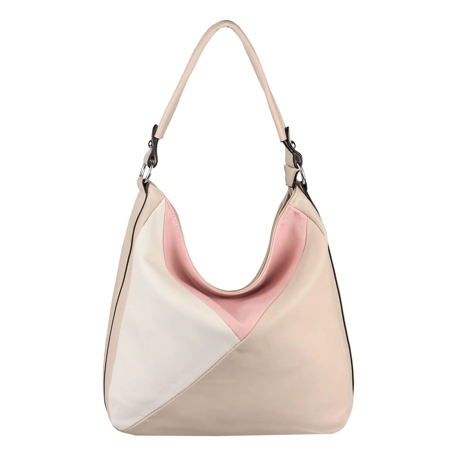 OBC DAMEN TASCHE XXL Metallic Shopper Hobo Bag Umhängetasche