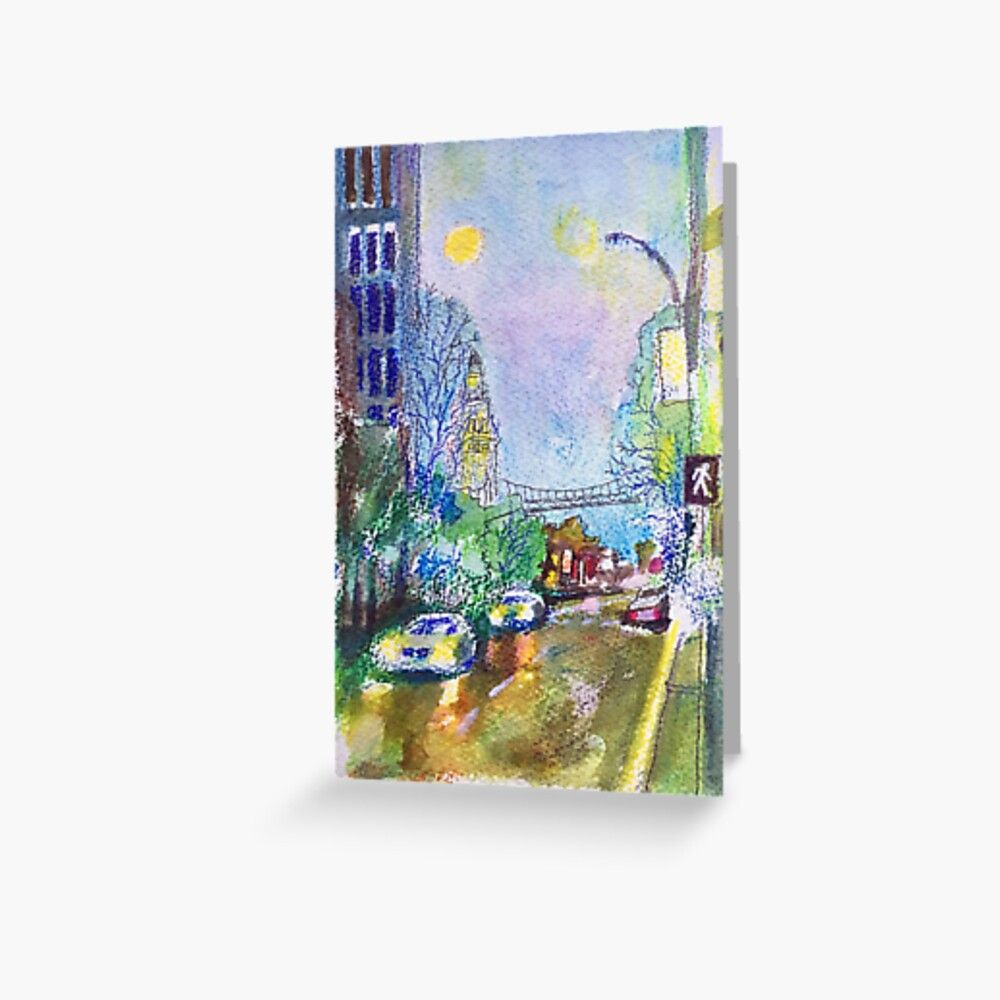 'Ferry Building side way, San Francisco' Greeting Card by bjengcomix