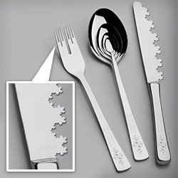 """Playful concept rendering of Fractal Cutlery! """"The Infinity Set"""""""