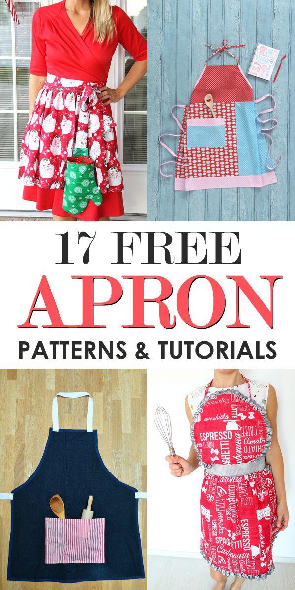 17 Free Apron Patterns & Tutorials | Sewing & Patching | Pinterest ...