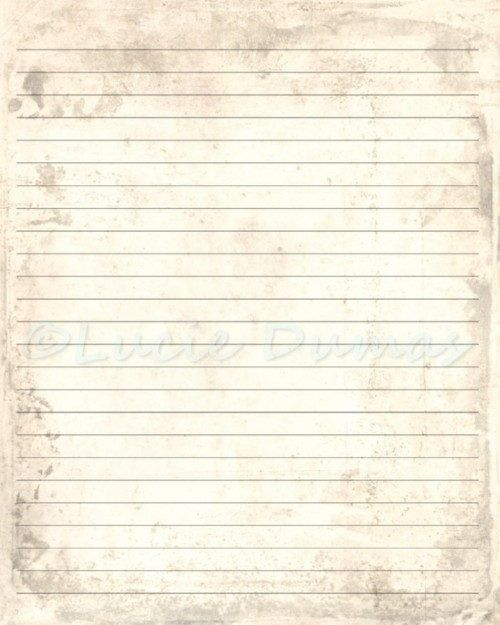Digital Printable Journal Page Antique Background Stationary 8x10