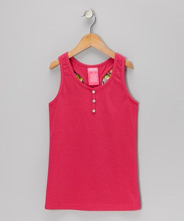 Take a look at this Pink Ruffle Tank - Girls by French Toast on #zulily today!