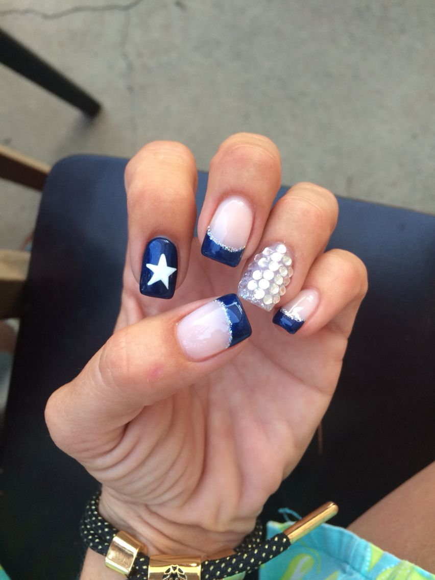 Dallas Cowboys Nail art. Football. Cowboys. Nail designs ...