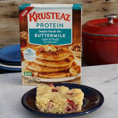 Strawberry Baked Pancakes Recipe Krusteaz Giveaway Mom Always Finds Out Recipe Krusteaz Pancake Mix Recipes Baked Pancakes Krusteaz Recipes