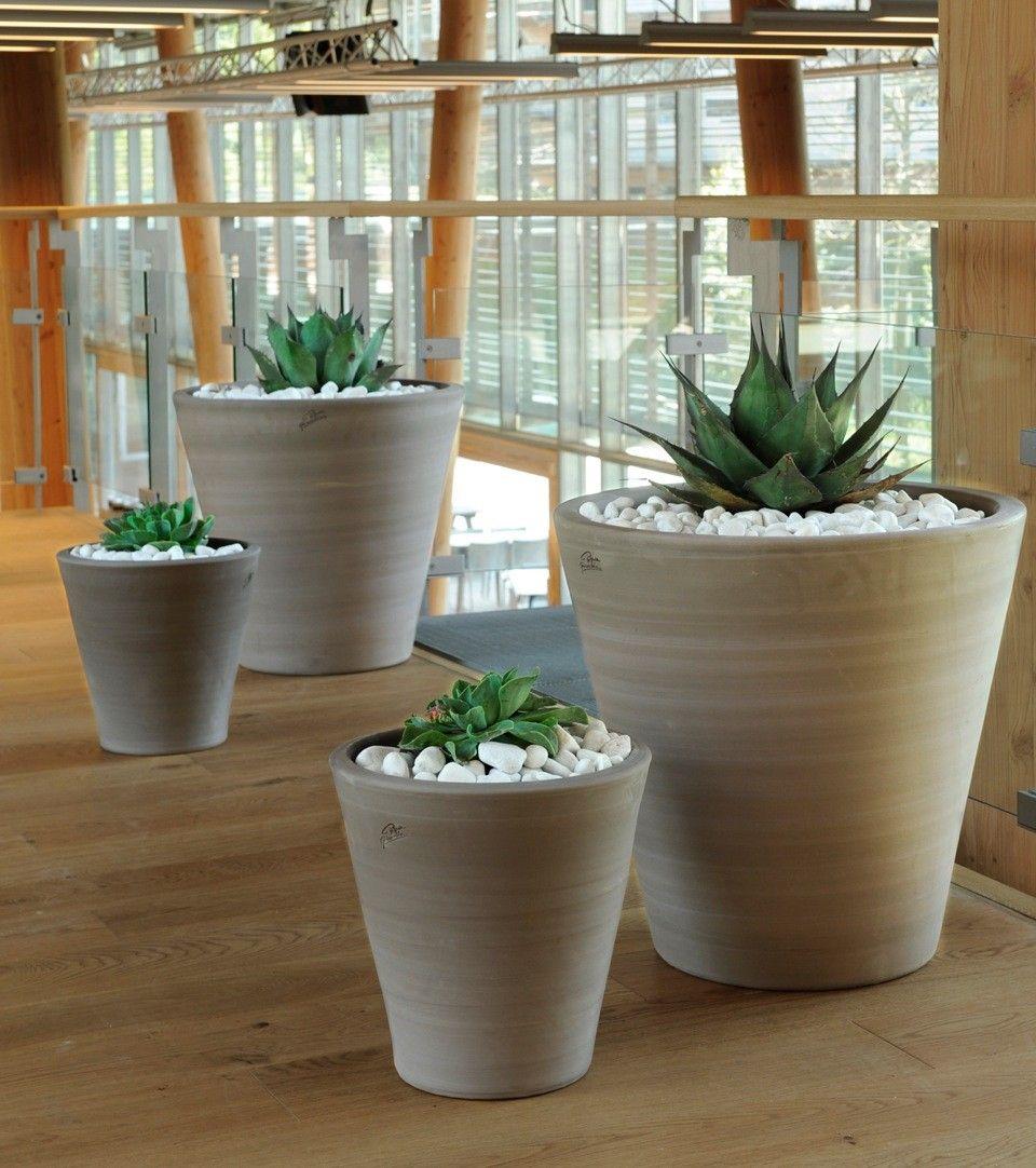 Cuvier droit en terre cuite design contemporain poterie for Decoration jardin terre cuite