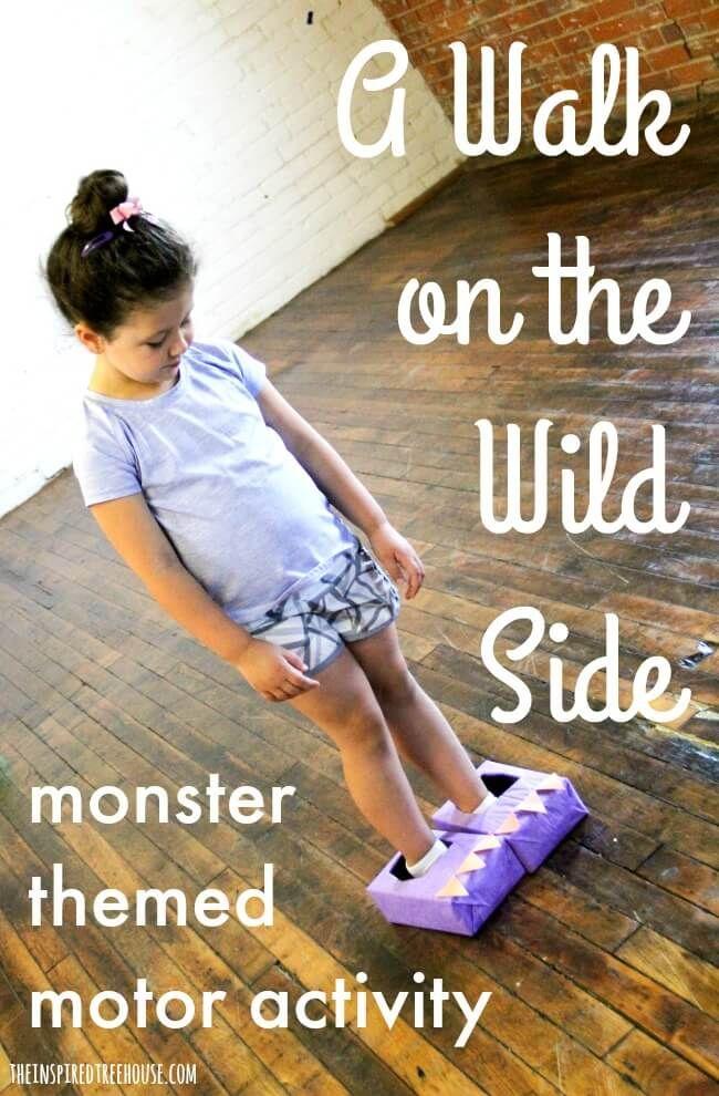 Gross Motor Skills Activities Sidewalk Monster Walk Motor Skills Activities Skills Activities Monster Activities