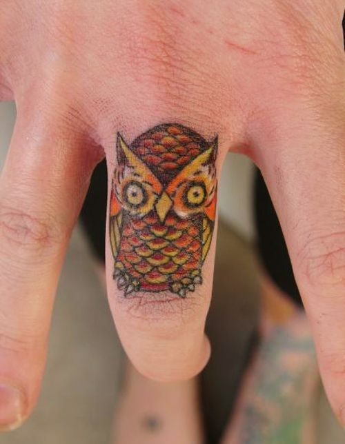 Finger Owl Tattoo Trend Tatoos Corujas Tatoo Tatuagem